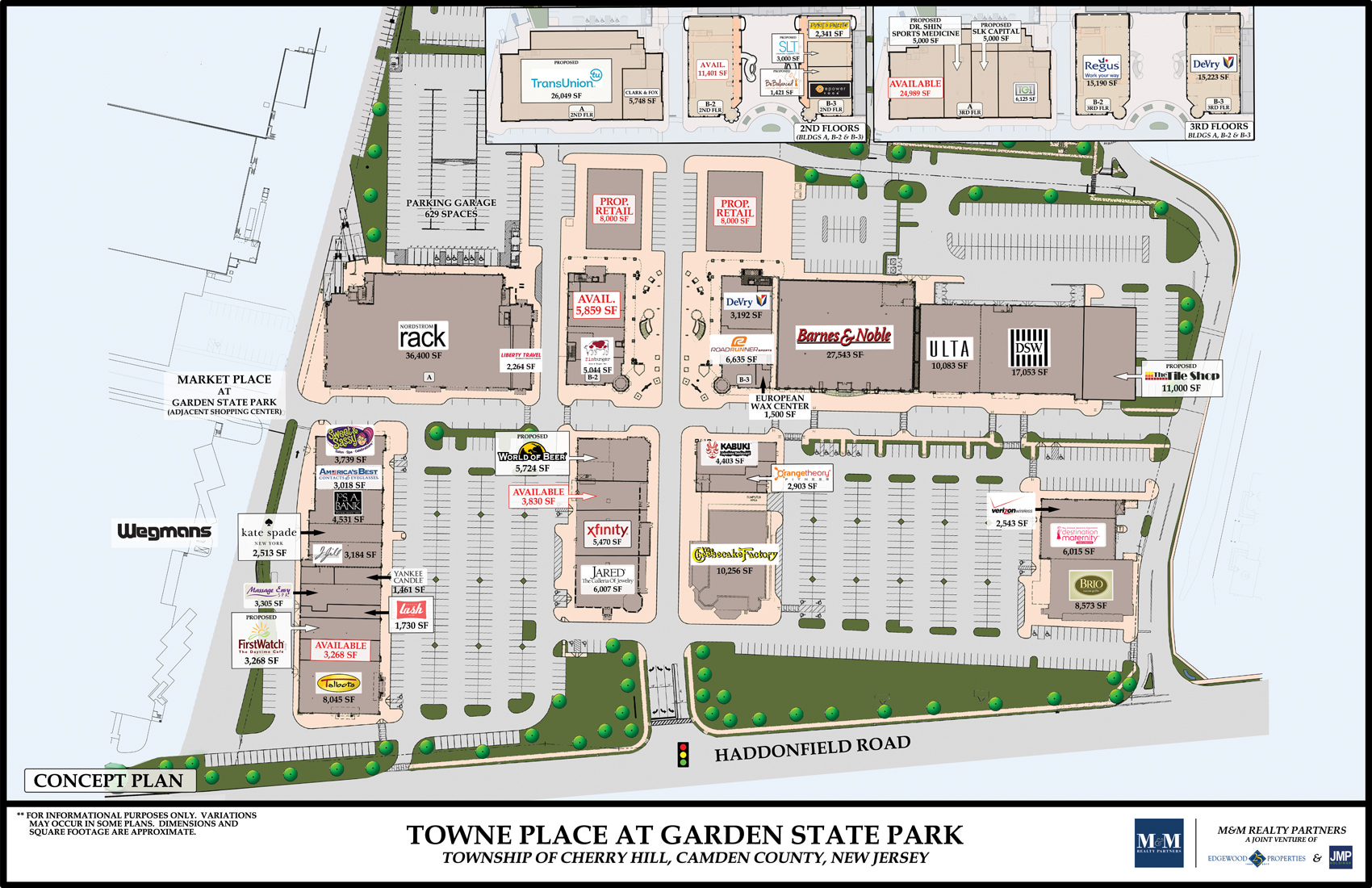 Towne Place At Garden State Park Commercial Space In New Jersey Leasing Plans