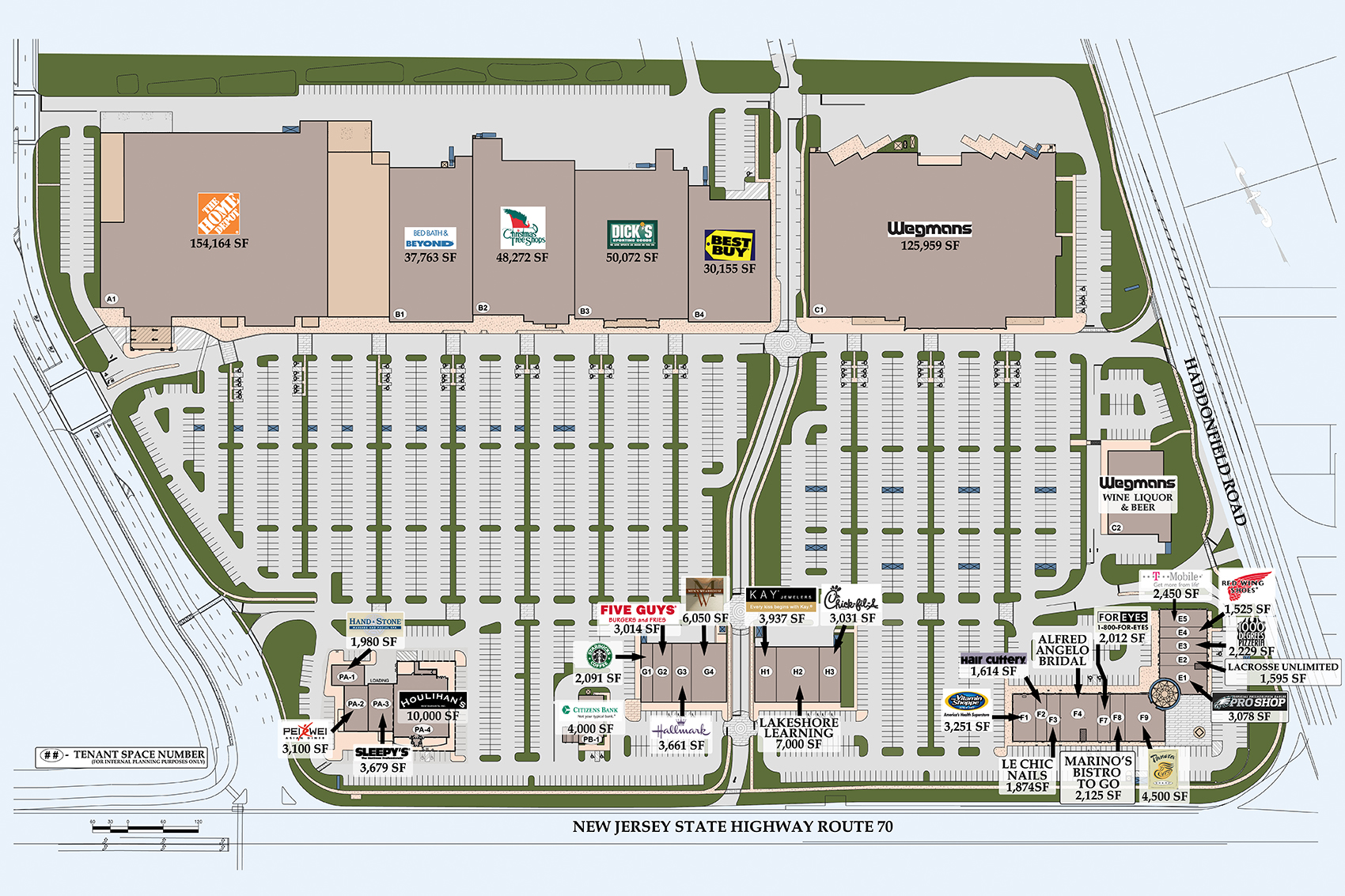 Market Place At Garden State Park Commercial Space In New Jersey Leasing Plans
