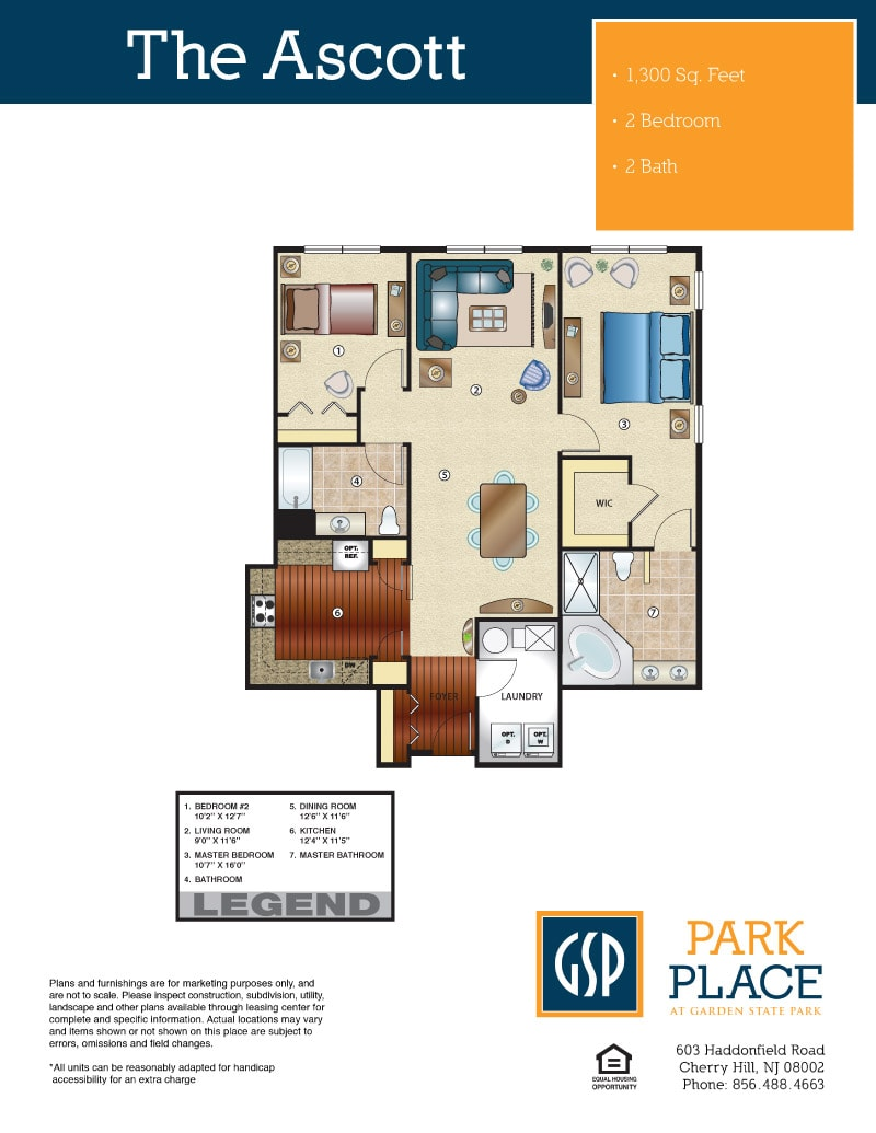 Park place at garden state park condos and townhouses in cherry the ascott 2 bedroom malvernweather Choice Image